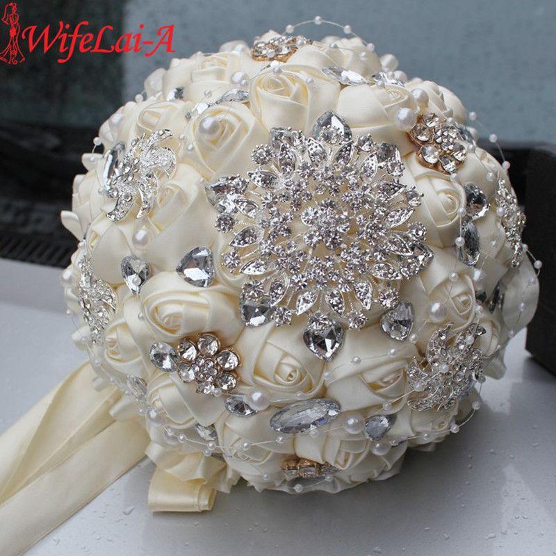 Celebrity Wedding Flowers Centerpieces: Best Selling Ivory Cream Brooch Bouquet Wedding Bouquet De