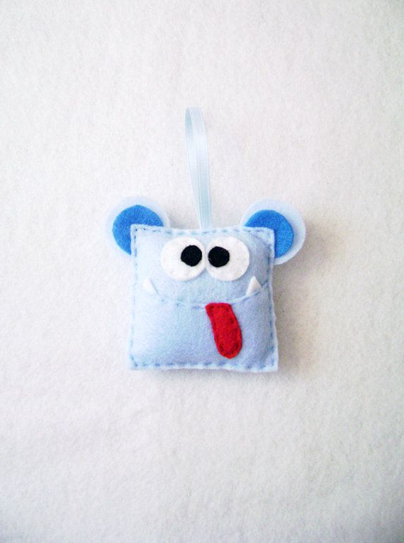 Hey, I found this really awesome Etsy listing at https://www.etsy.com/listing/113014275/felt-christmas-ornament-doug-the-monster