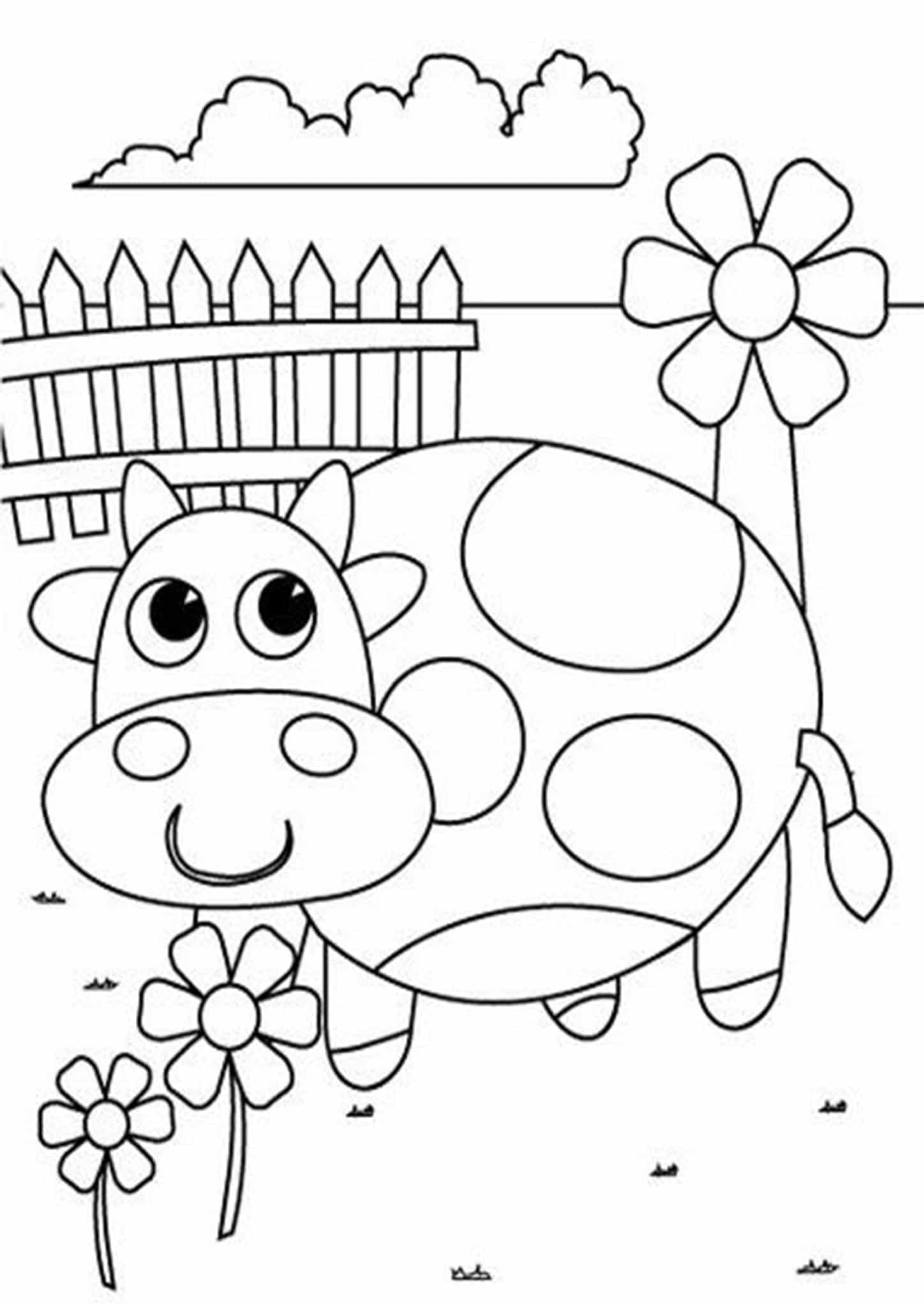 Free Easy To Print Cute Coloring Pages In 2021 Kindergarten Coloring Pages Spring Coloring Pages Kindergarten Coloring Sheets