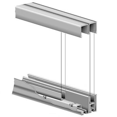 Knape And Vogt P992zc72 Kv 72 1829mm Ball Bearing Track Set For 1 4 Thick Large Glass Sliding Doors The Hardware Hut Sliding Glass Door Sliding Doors Sliding Door Window Treatments