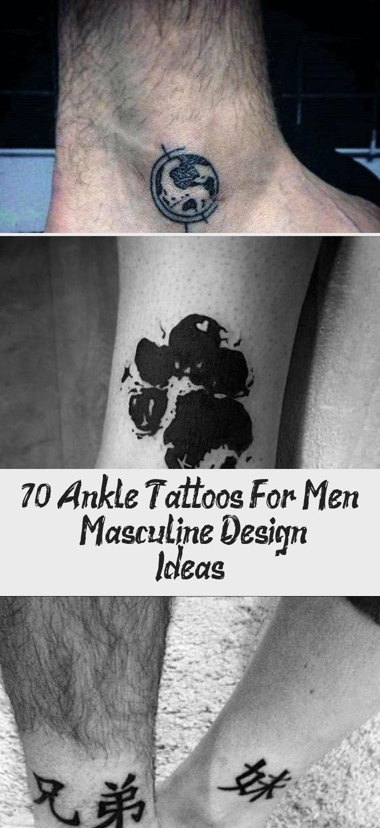 70 Ankle Tattoos For Men Masculine Design Ideas in 2020