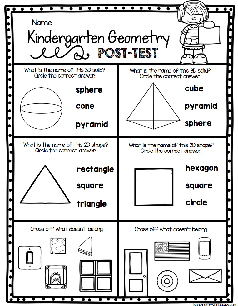 37++ Kindergarten geometry worksheets Info
