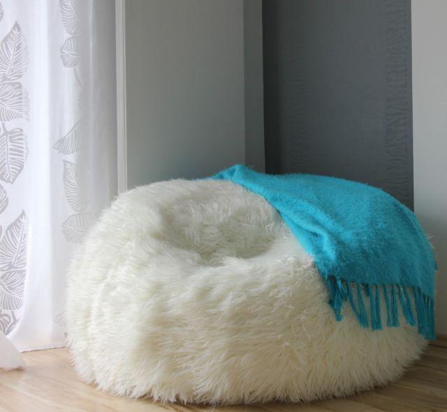 Large O 110 Cm Soft Alpaca Faux Fur Bean Bag Cloud Bean Bag Chairs