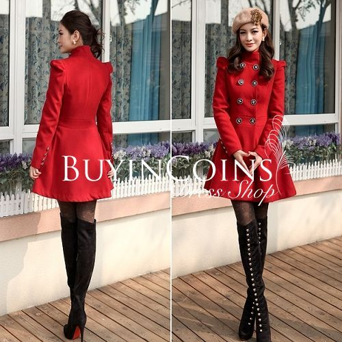 elegant white double breasted women's coat | Buy Elegant Womens ...