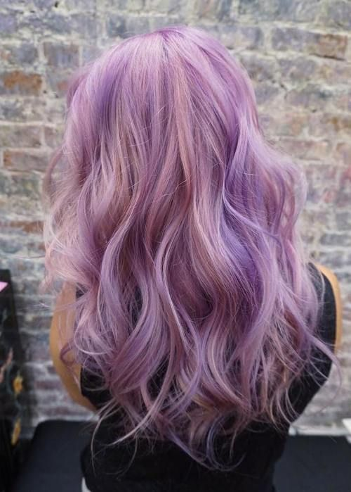 40 Versatile Ideas Of Purple Highlights For Blonde Brown And Red Hair Pastel Purple Hair Lilac Hair Hair Color Purple