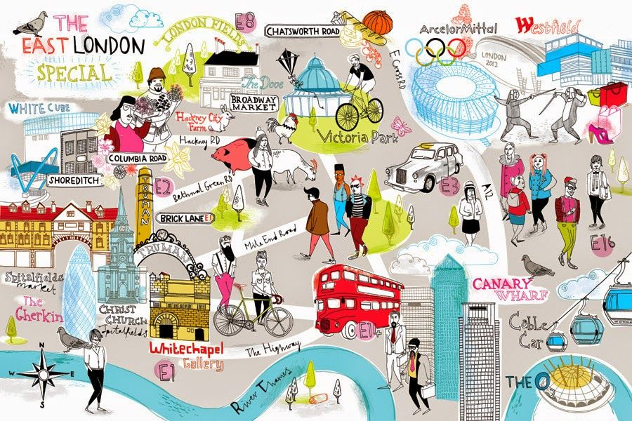 map of london with sites and neighborhoods google search