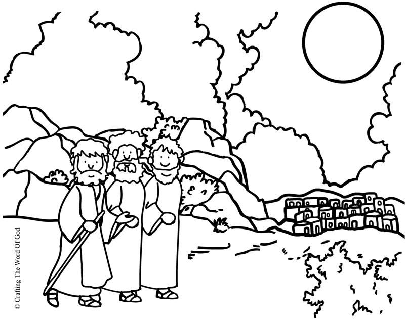 Road To Emmaus (Coloring Page) Coloring pages are a great