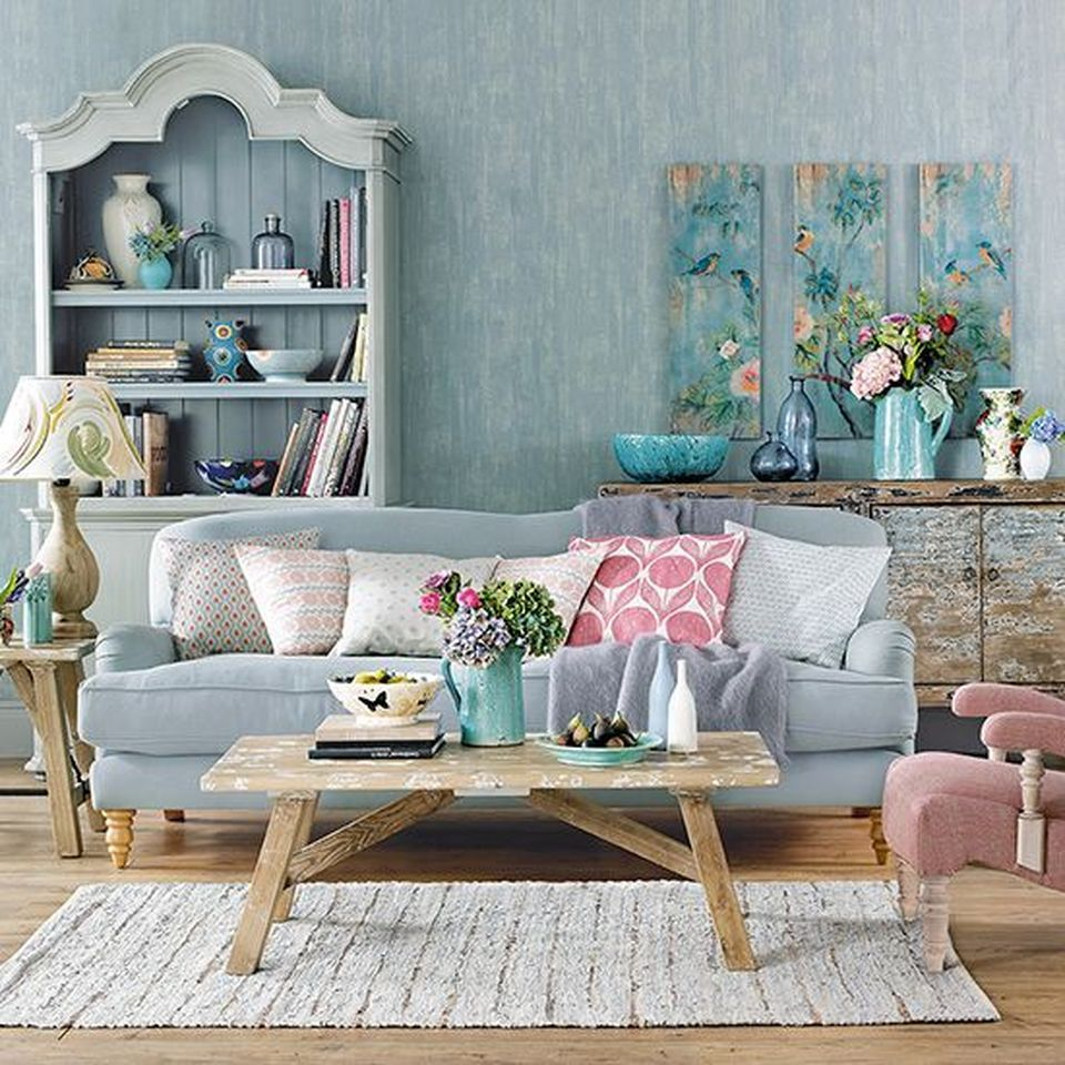 70 Vintage Shabby Chic Living Room Decorations Ideas Shabby