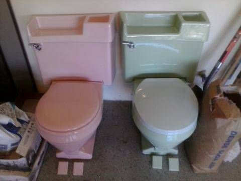 American Standard Toilets From The 1960 S Tank Cover Has A