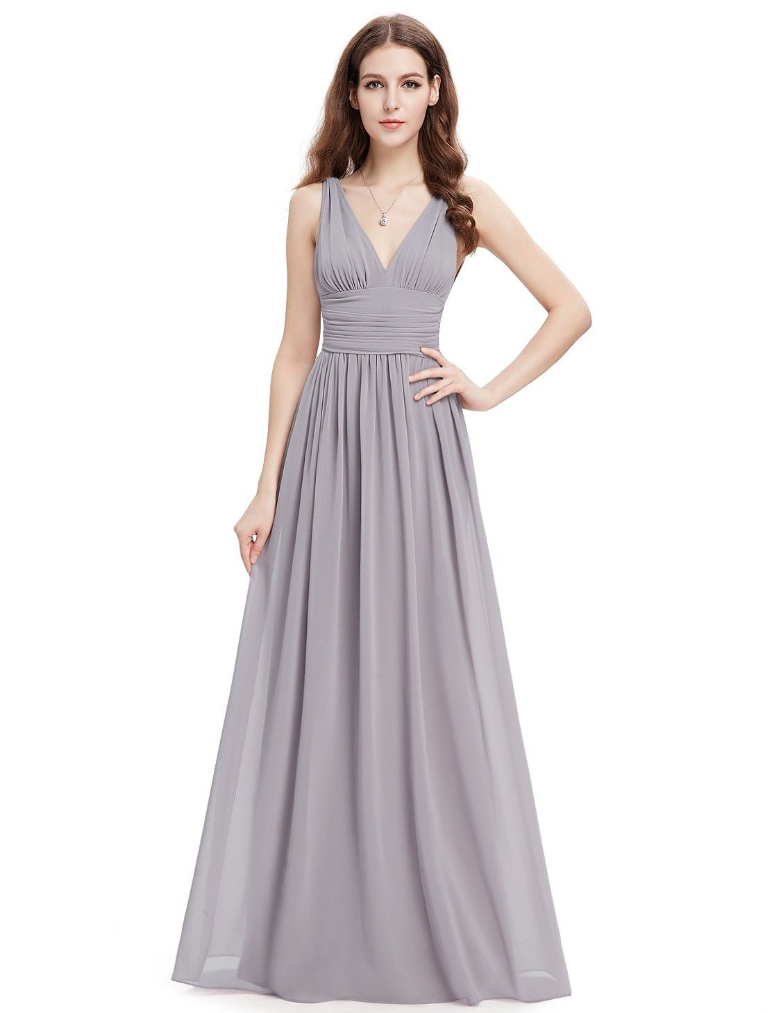 21c37e76d0 Sleeveless V-Neck Semi-Formal Maxi Dress in 2019