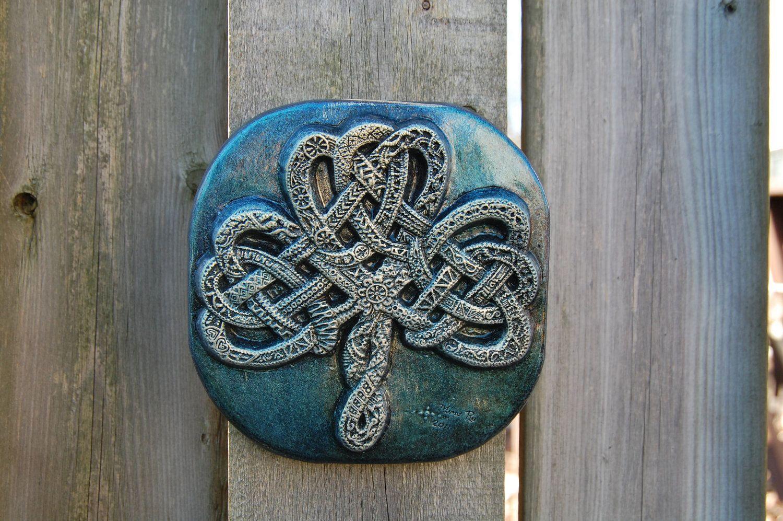 Celtic knot shamrock irish gift irish art garden gift irish home