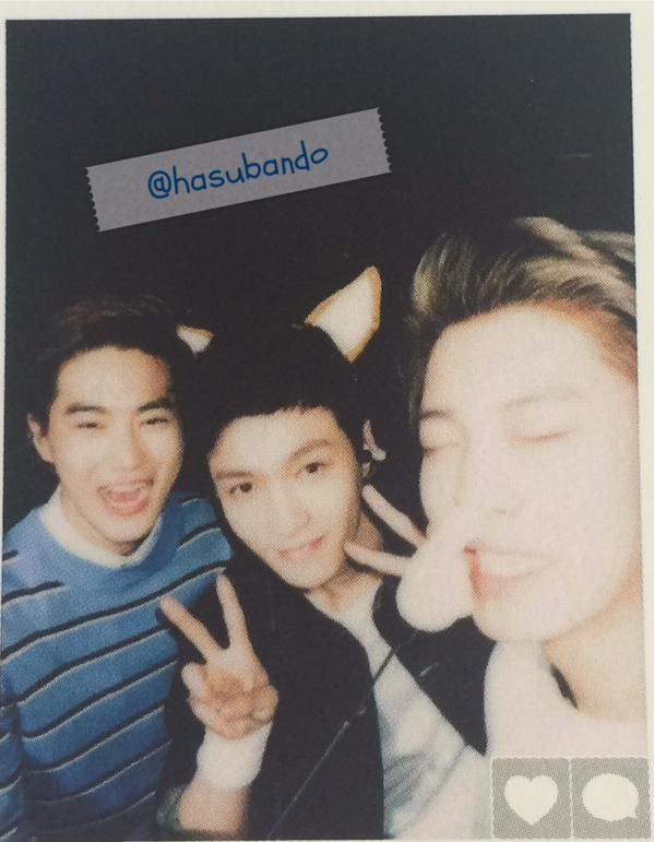 Chanyeol Lay Suho 151003 Official Exo L Japan Book Vol 2 Credit