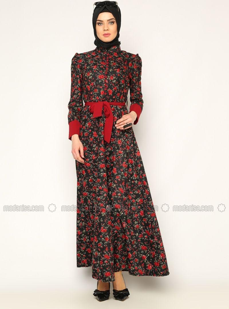 Cicekli Elbise Kirmizi Burun Cicekli Elbise Elbise Elbiseler