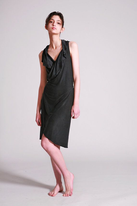 f280289ac0d67 Black Wrap Dress