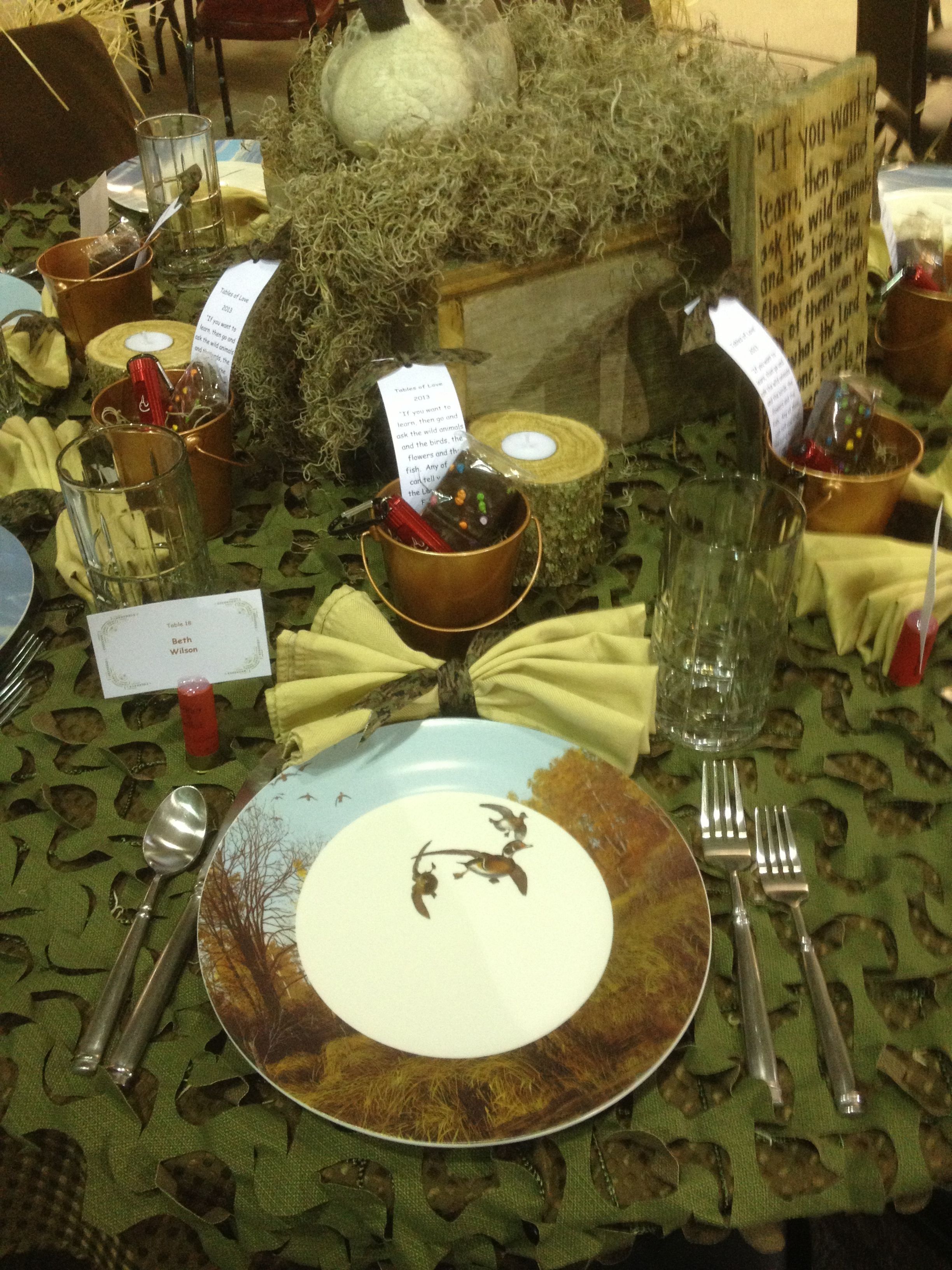 Duck Themed Table Decorations Camo Tables Of Love
