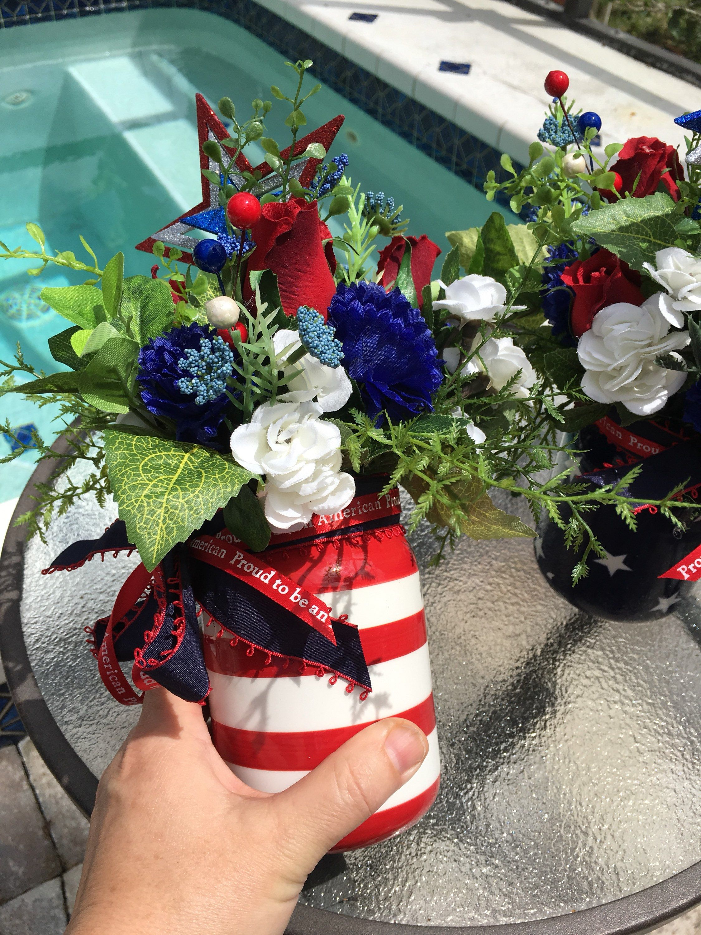 Patriotic centerpiece patriotic decor star centerpiece star decor