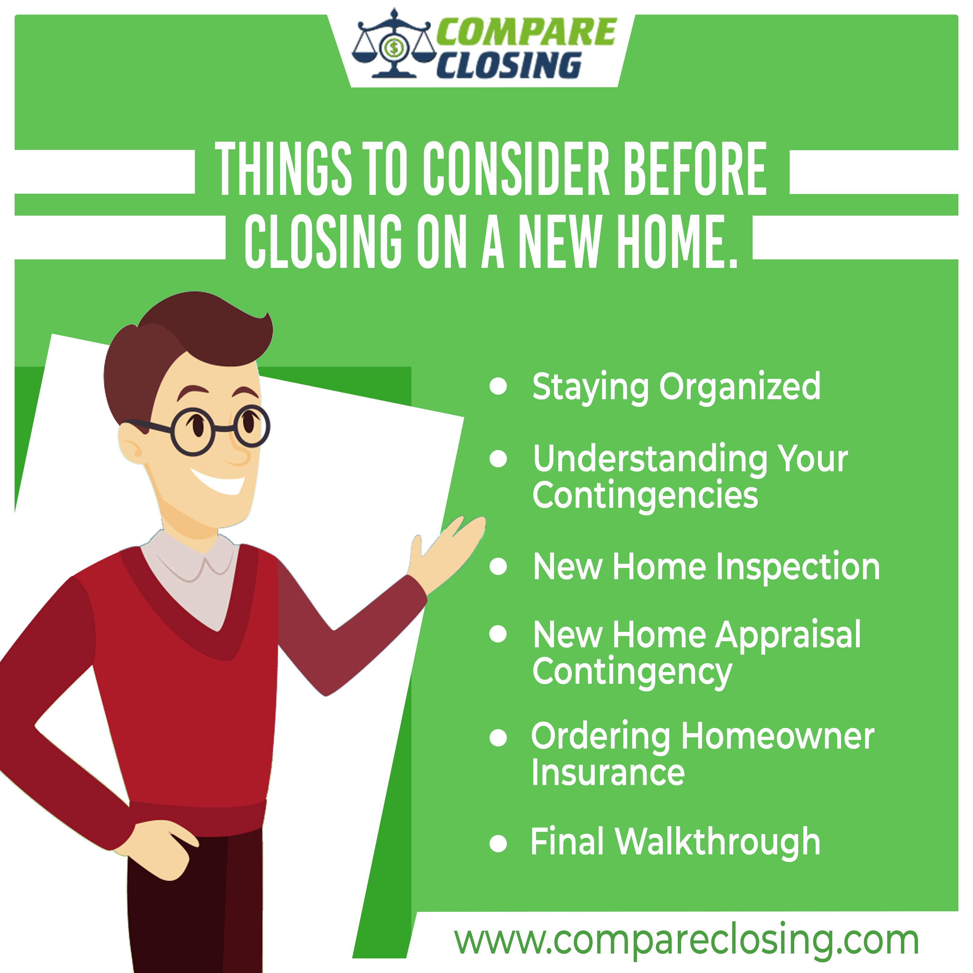 Things To Consider Before Closing On A New Home Compare Quotes