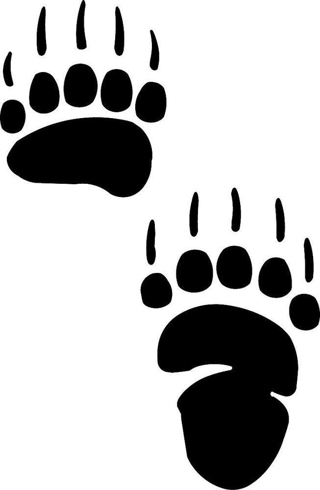 Paw Print Stencil Bear Paw Decal Grizzly Bear Paw Print Bear Paw Tattoos Bear Claw Tattoo