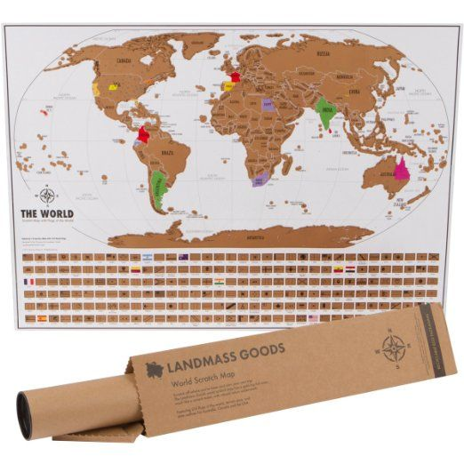 Scratch Map World Unique Scratch Off Map Travel Gift With Flags - Scratch off us state maps with pencil