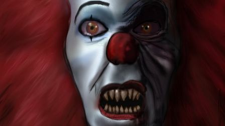 Guess Who Clown Evil Mean Pennywise Scary HD Wallpaper