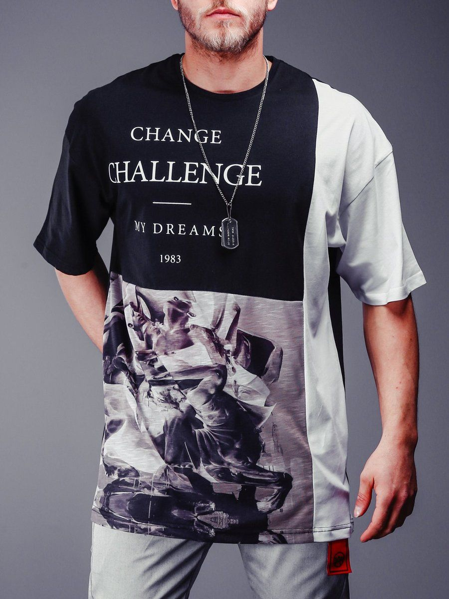 14dfcaeeb Graphic Design Oversized T-Shirt - Black in 2019 | Summer pants ...
