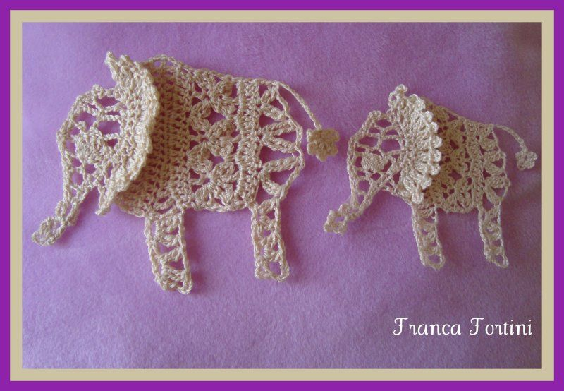Crochet Lace Elephants