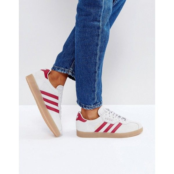 free shipping dae16 34efc adidas Originals Gazelle Super Sneakers In Grey With Gum Sole ( 110) ❤ liked  on