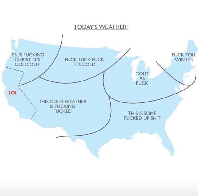 Weather of the U.S. - Glad I\'m in California! | Funny Stuff | Funny ...