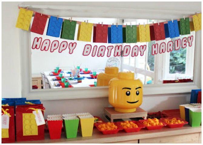 Lego Birthday Party Ideas | Festa infantil e Festa