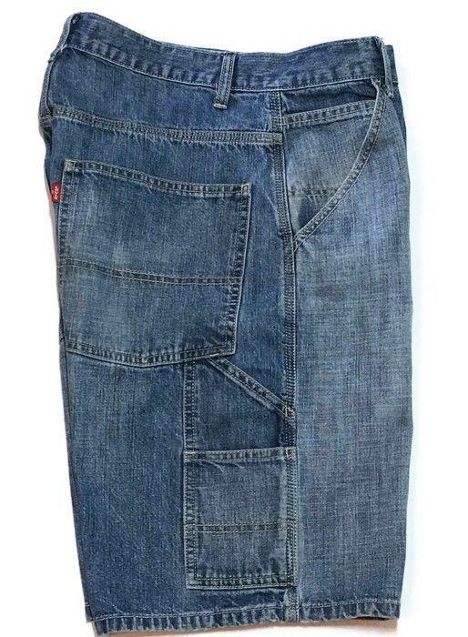 b12e2939 Levis Carpenter Denim Shorts 32 x10 Utility Blue Jeans Faded Utility Red Tag  Men #Levis #CarpenterUtility