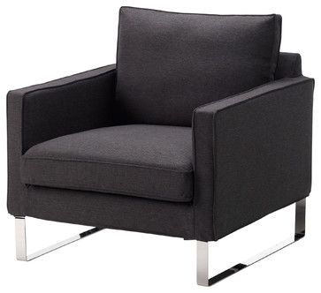Mellby Chair Dansbo Dark Gray Modern Armchairs And Accent