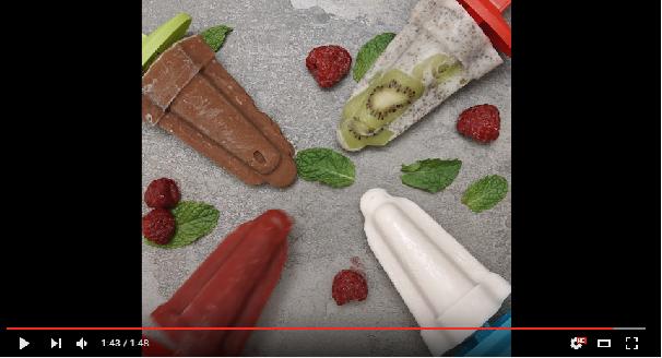 VIDÉO 4 recettes faciles de popsicles santé Recette