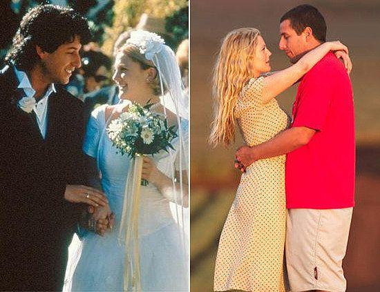 Adam Sandler And Drew Barrymore The Wedding SingerMovie