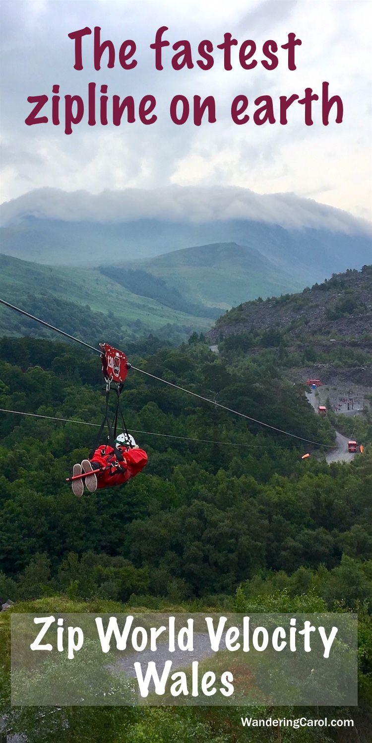 Zip World Velocity Zipline, Wales - the world\'s fastest zipline ...
