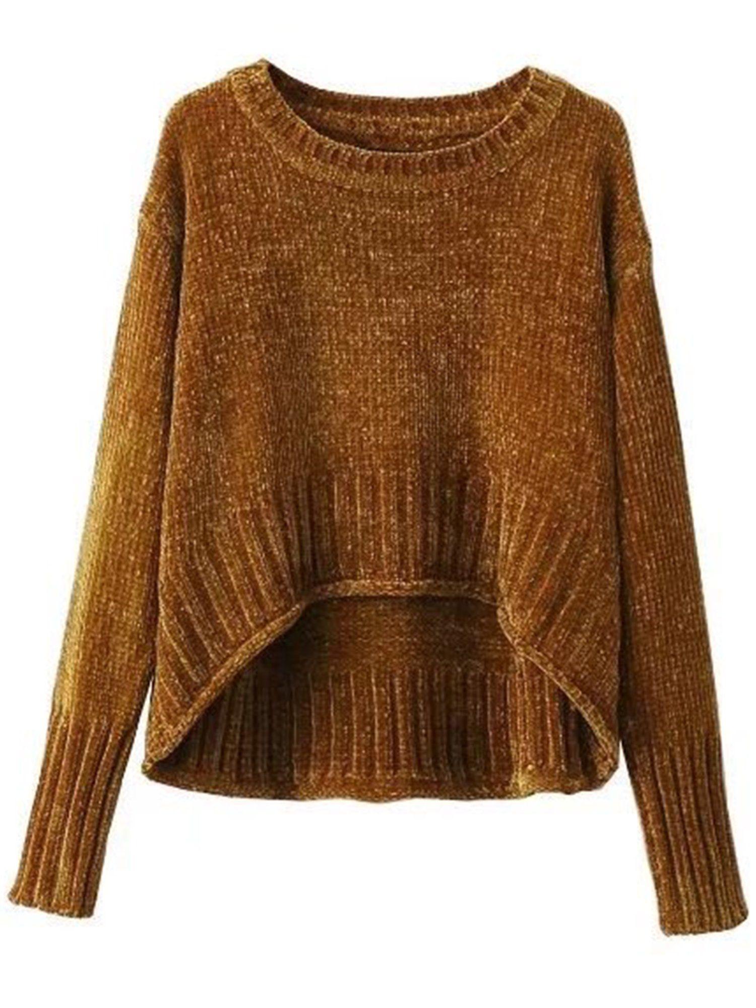 Elisabetta' Velvet Knit Sweater | Extra long sleeve sweater