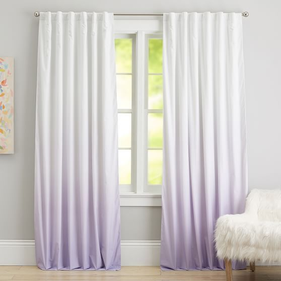 Ombre Blackout Drape Light Turquoise Lavender Pottery Barn Teen House Curtains