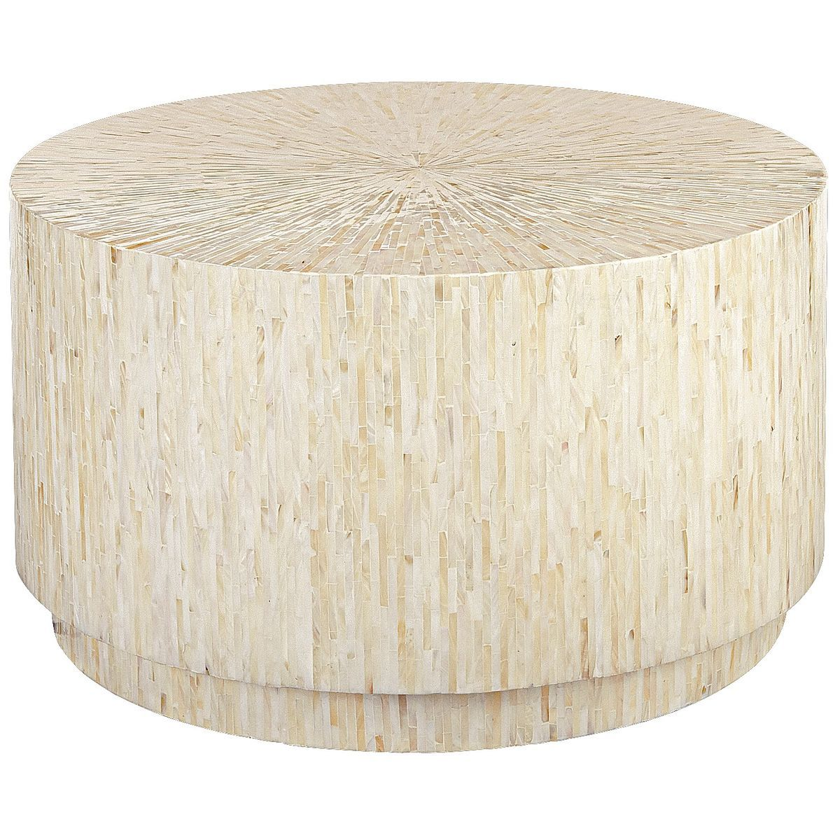 Mother Of Pearl Round Coffee Table Drum Coffee Table Round