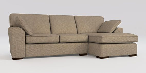 Buy Stamford Corner Chaise Right Hand 4 Seats Fine Blended Weave Dark Natural Large Square Angle Sofa Next Chaise Chaise Sofa