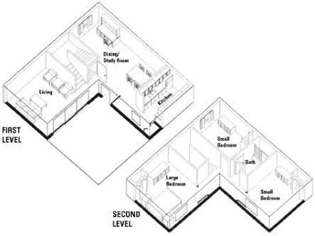 Image Result For L Shape 3d Floor House Plan L Shaped House L Shaped House Plans Castle House Plans