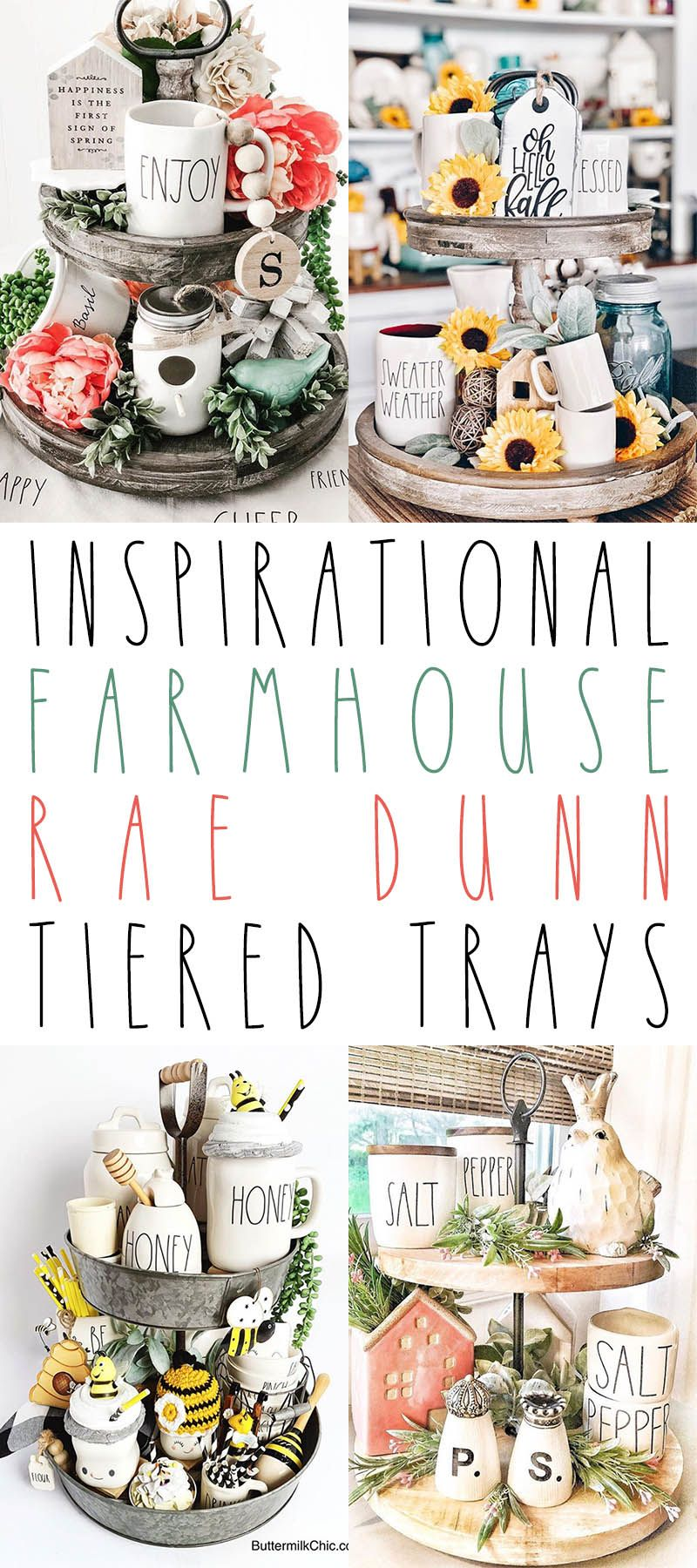 Photo of Inspirational Farmhouse RAE DUNN Tiered Trays – The Cottage Market