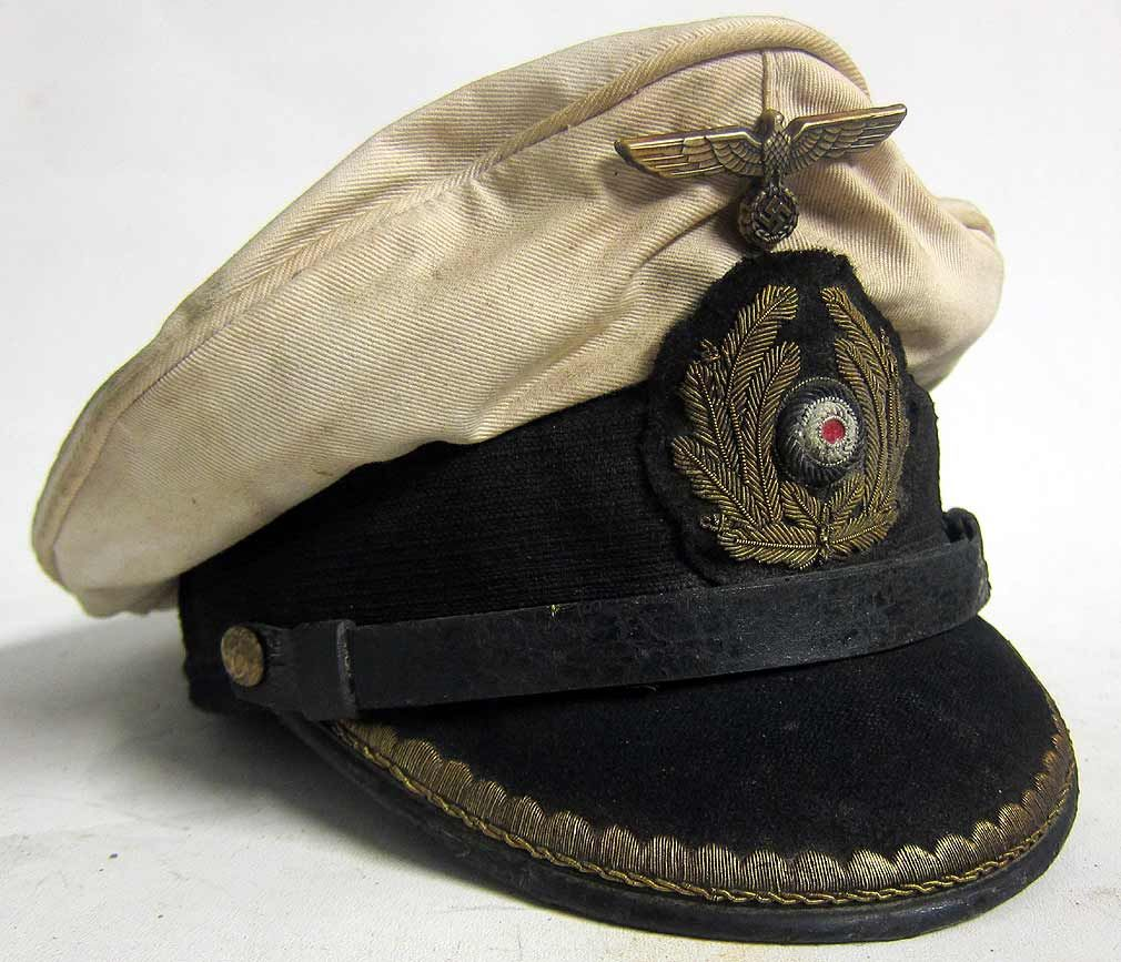 c02649c8e31 This is a reproduction of a Kriegsmarine U-Boat Captains Peaked cap with 70+