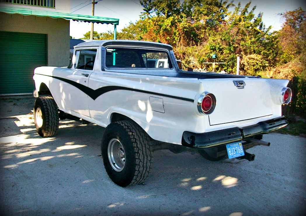 57 Ford Ranchero_4x4 custom | old ford trucks | Pinterest | 4x4 ...