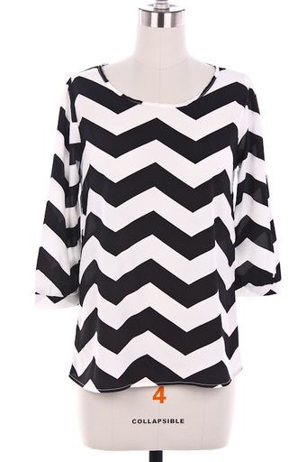 Coveted Chevron Top : Swoon Boutique