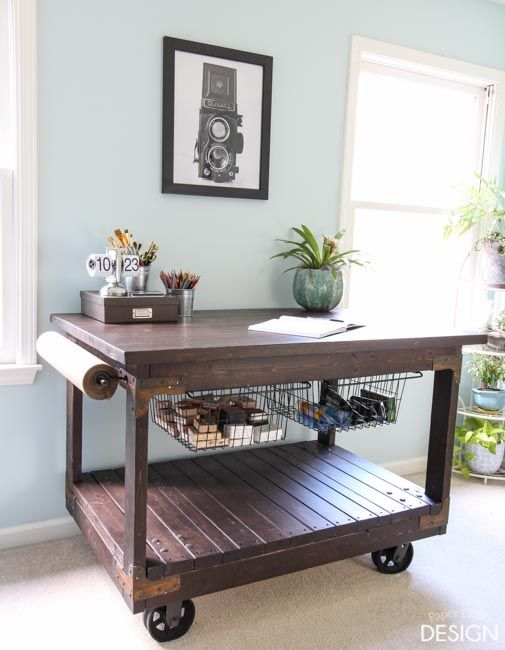 Complete Instructions For This Industrial Style Craft Table Made With  2x4u0027s, With Links To Where