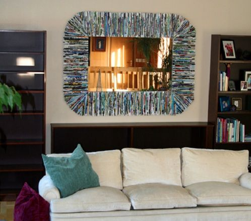 reciclar revistas marco espejo