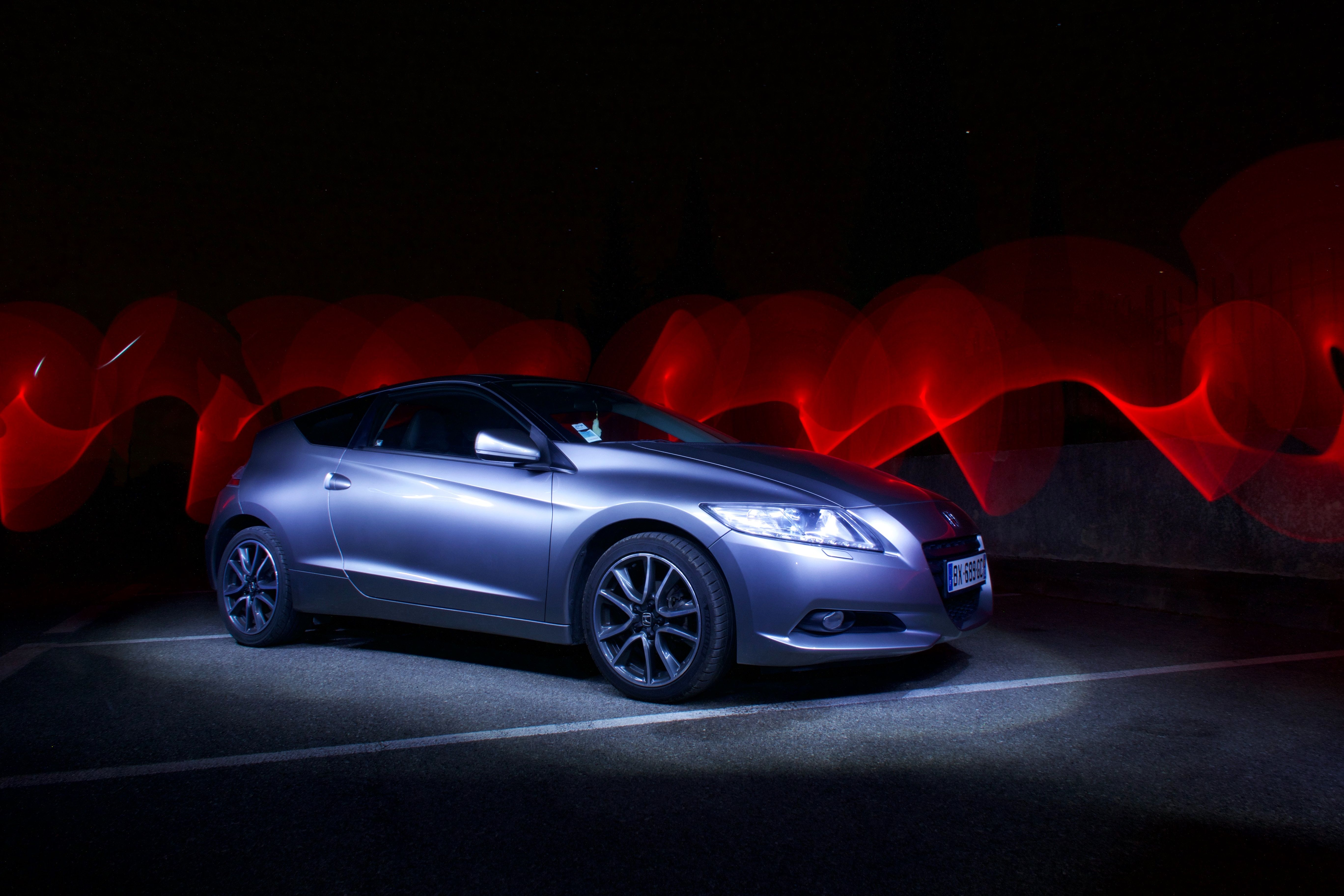 Honda Cr Z With Background Photo Effect Done With A Long Exposure