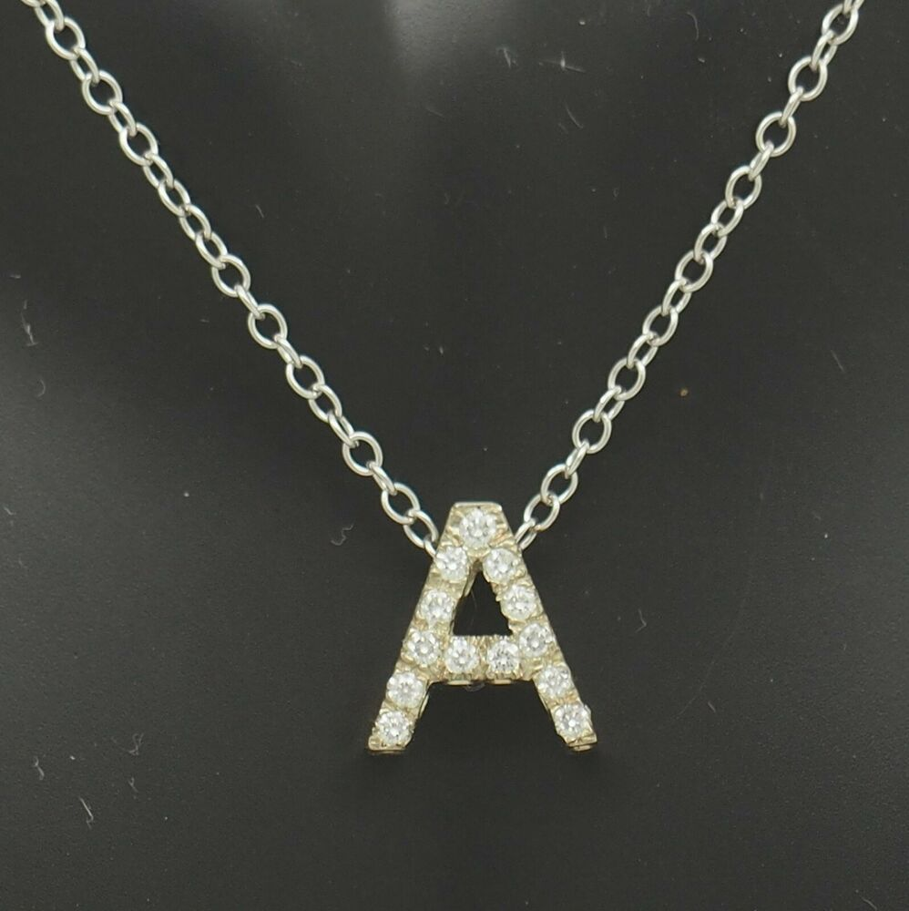 Sterling Silver Open Heart Pendant Solitaire Baguette Simulated Diamond 18 Chain