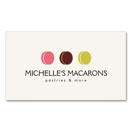 FRENCH MACARON TRIO LOGO for Bakery, Pastry Chef Business Card - baker pastry chef sample resume