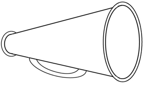 photograph regarding Printable Megaphone Template called Megaphone clipart cheerleading free of charge clipart pictures 3