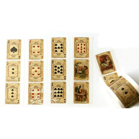 Alice in Wonderland Washi Tape • Playing Cards Washi Tape (185729)